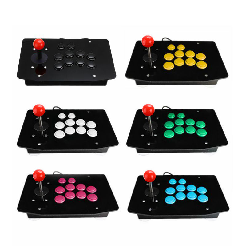 Video-Game Gamepad Fighting Stick Arcade-Joystick Gaming-Controller Acrylic Wired USB title=