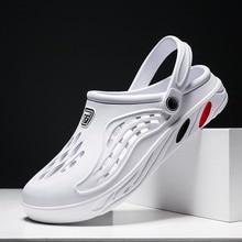 Men Sandals Hole Shoes summer Clogs Sandals For Men EVA men Slipper Hole Garden Shoes Crocse Adulto