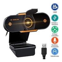 1080P HD USB 2,0 Web Kamera Computer PC Webcam mit Mikrofon für Online Lehre Konferenz Live Video Streaming