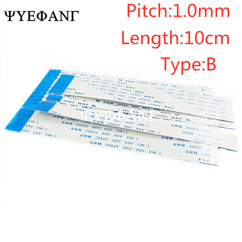 FFC//FPC Flexible Flat Cable Ribbon Pitch 0.5mm 1.0mm 10P 12P 14P 80C 60V VW-1