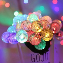 20 leds Fairy Garland LED Ball String Lights Waterproof for Christmas Tree Wedding Outdoor Garden Indoor Decoration USB Powered string lights new 1 5m 3m 6m fairy garland led ball waterproof for christmas tree wedding home indoor decoration battery powered