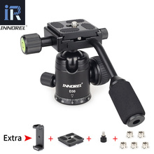 D30 Ball Head with Handle CNC Panoramic Tripod head Q.R. Plate Camera Mount for