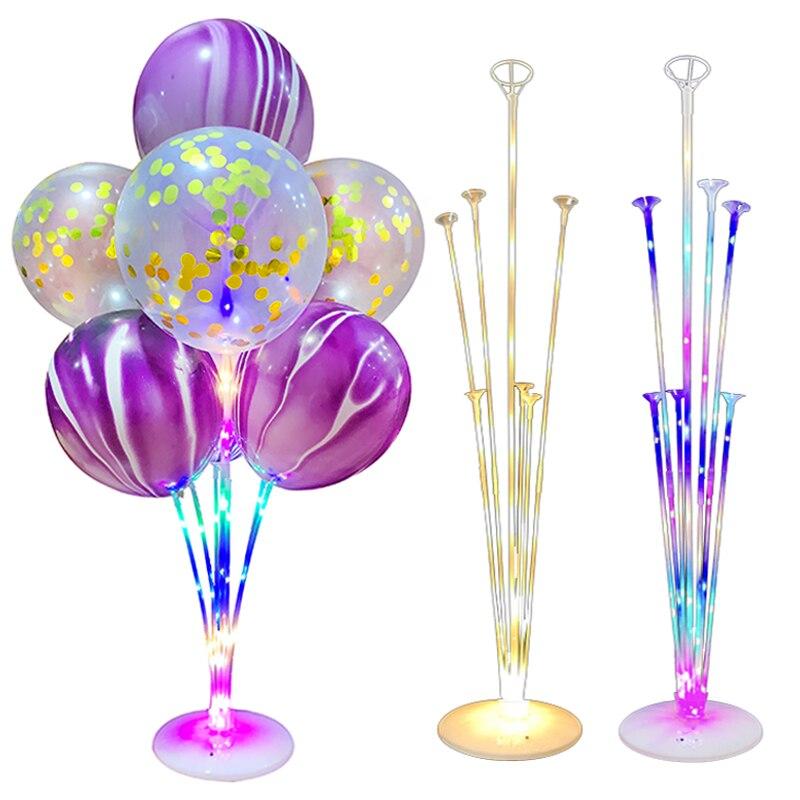 1/2 комплекта, светодиодный светильник, подставка для шара, подставка, детская колонна, украшение на день рождения, вечерние шары, декор для с...