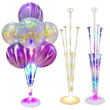 1/2Set Led Light Balloon Stand Holder Column Kids Birthday Decoration Party Balloon Wedding Table Decor Baloon Helium Air Globos