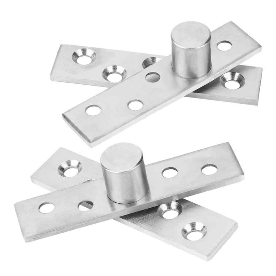 2 Pcs Stainless Steel 360 Degree Rotatable L Shape Hinge for Home Door