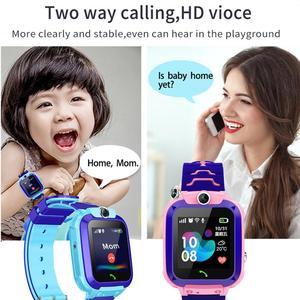 Image 2 - 2020 kids smart watch Waterproof baby SOS Positioning 2G SIM Card Anti lost Smartwatch children Tracker smart clock Call watch