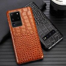 Кожаный чехол для телефона для Samsung S20 ультра S10 S10e S9 S8 S7 Note 8 9 10 Lite 20 A20 A30 A50 A51 A70 A71 A8 плюс крокодил крышка