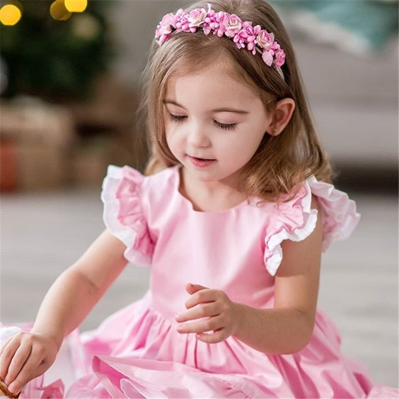 Imcute 1-6T Toddler Kids Baby Girls Princess Party Pageant Gown Tutu Dress Sundress Clothes Dresses For Summer Party Club