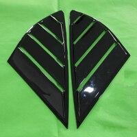 DWCX 2 шт. ABS задняя четверть панель окна боковые жалюзи вентиляционная крышка отделка Подходит для Ford Fusion Mondeo 4D 2013 2014 2015 2016 2017 2018