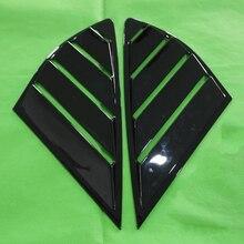 DWCX Panel trasero de ABS para ventana, cubierta de ventilación embellecedora para Ford Fusion Mondeo 4D 2013 2014 2015 2016 2017 2018, 2 uds.