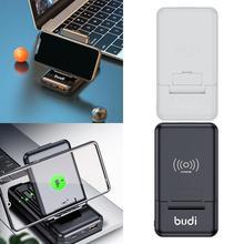 BUDI 다기능 보조베터리 박스 7 In 1 어댑터 뱅크 C 컨버터 Type C 타입 USB 전원 10000mAh 안드로이드 마이크로 E3C8