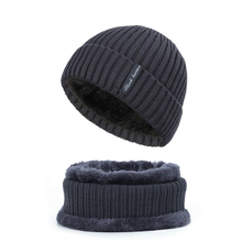 New Men and Women Knit Hat Autumn and Winter Headgear Warm Plus Velvet Thick Wool Hat Beanie Cap Men and Women Hat Bib Two-piece winter fashion new brand warm hoed unisex wool knit beanie hat cap beanie boys and girls skull hat nov 1