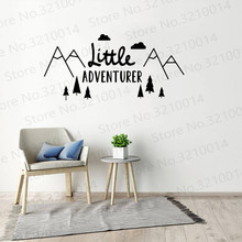 Little Adventurer Wall Decor Wall Stickers For Kids Room Decoration Wall Decals Baby's Room Vinyl Wallpaper Sticker Murals PW460 beauty little girl wall sticker pvc wallstickers wall art wallpaper for kids room decoration waterproof adesivi murali lw588