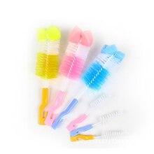 Pacifier-Brush-Tool Cleaner Bottle-Cup Sponge Nipple Baby Milk 2-In-1 360-Degree