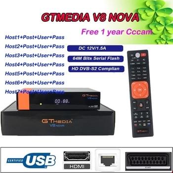 Freesat v8 nove Satellite tv Receiver DVB-S2 2Year Europe Spain CCcam line shipping from Spain support cccam receptor gtmedia v8