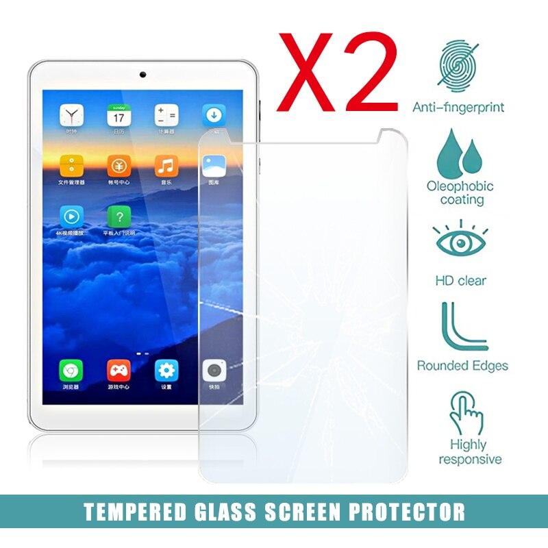2pcs tablet vidro temperado protetor de tela capa para onda v712 7 Polegada anti-risco de quebra de tela hd filme temperado