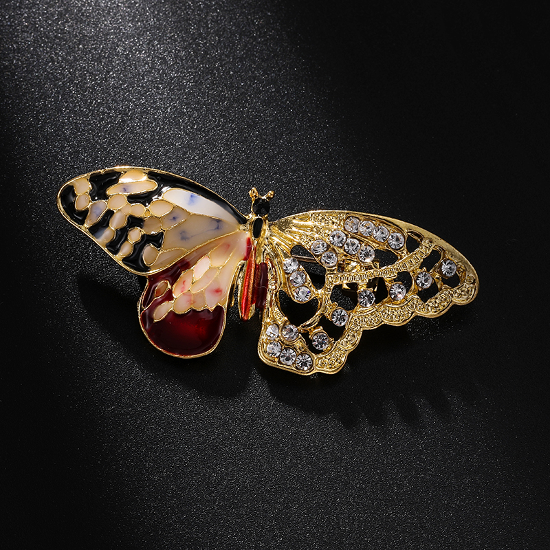 Schmetterling Tier Kristall Strass Brosche Pins Frauen Schmuck Geschenk Bou!ODDE