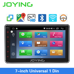 Image 1 - JOYING 7 inch Car radio Android 8.1PS 1GB RAMhead unit support Voice Command/SWC/mirror link/fast boot/Rear view camera autoradi