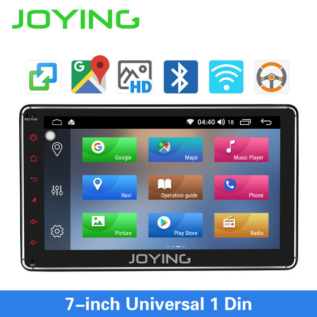 JOYING 7 inch Car radio Android 8.1PS 1GB RAMhead unit support Voice Command/SWC/mirror link/fast boot/Rear view camera autoradi