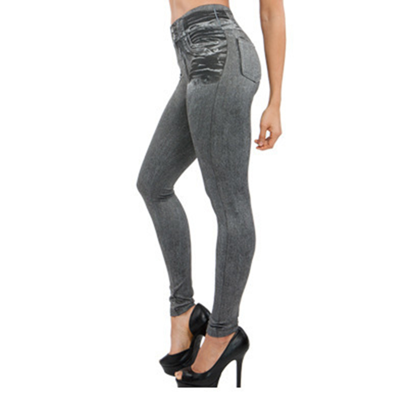 2019 Newly Women Thin Skinny Jeans With Pocket Short Velvet High Waist Slim Fit Retro Color Imitation Denim Pants Trousers