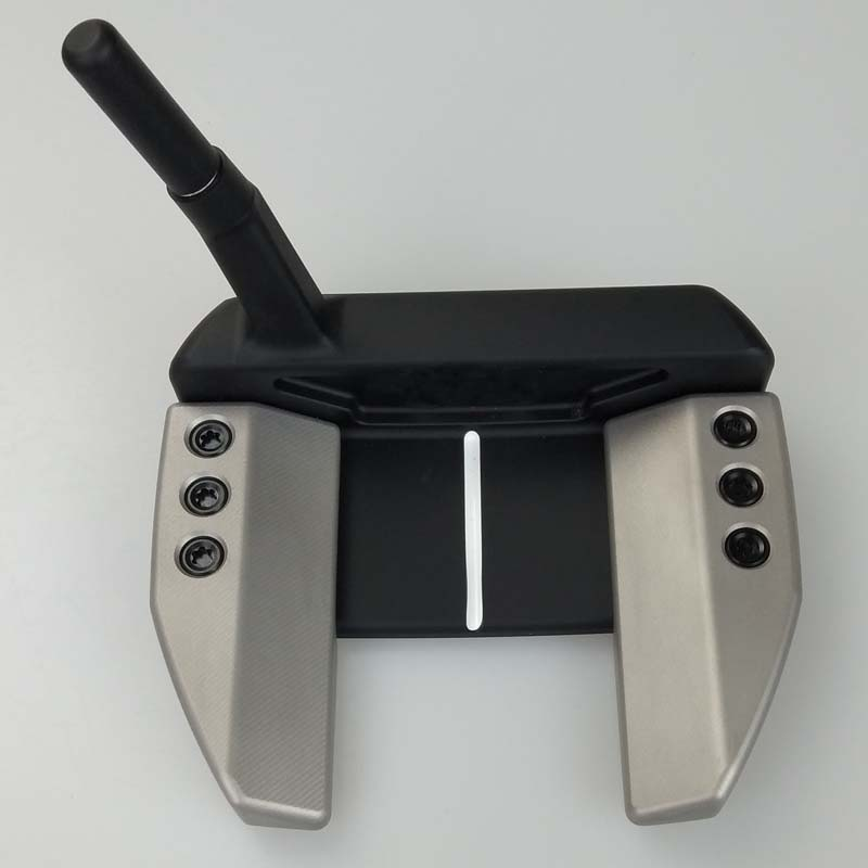 Golf Putter BK H Silver Black Long Pole Putters Black Steel Shaft With Rod Cover Free Shipping