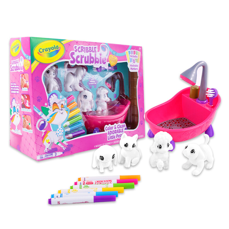 Crayola Bubble Pet Graffiti Doll GIRL'S Scenario Simulation Children Play House Toys Wholesale