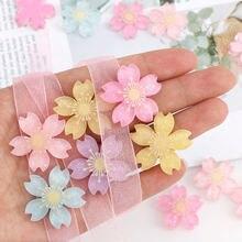 Красивые разноцветные полимерные цветы вишни «сделай сам» 20