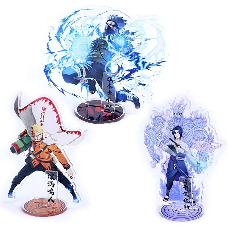 Anime Naruto Display Acrylic Action Stand Figure Model Plate Japanese Cartoon Figure Ninja Collection Jewelry Christmas Gift