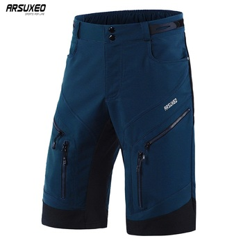 цена на ARSUXEO Men's Cycling Shorts Loose Fit Downhill MTB Mountain Bike Shorts Outdoor Sport Bicycle Short Pants Water Repellent 1903