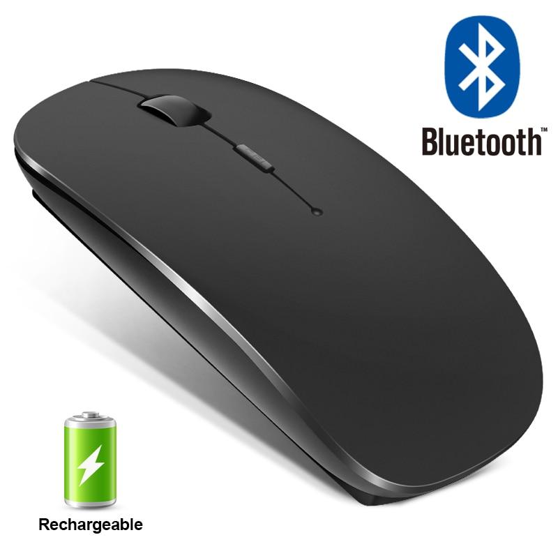 Беспроводная мышь Bluetooth перезаряжаемая мышь беспроводная компьютерная Бесшумная мышь эргономичная мини мышь USB оптическая мышь для ПК ноут...