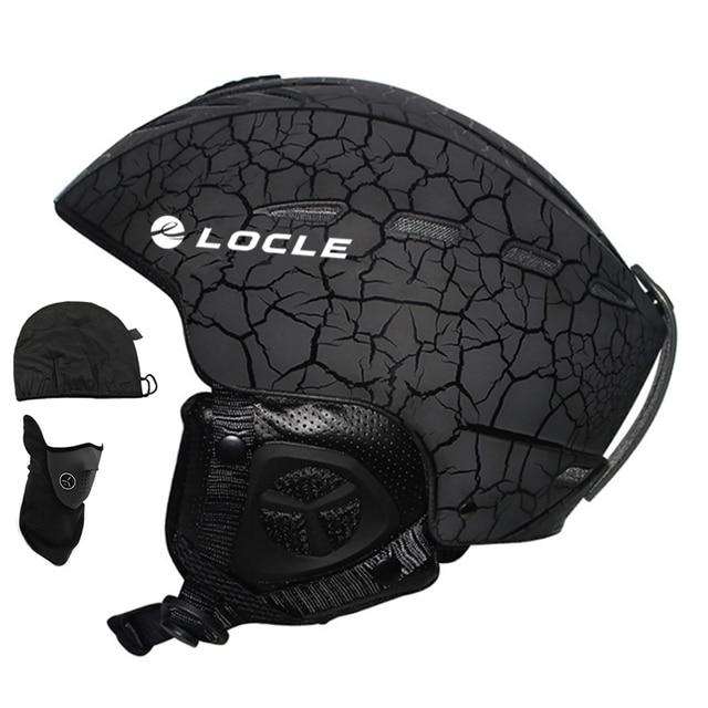 LOCLE Outdoor Sports Men Women Skiing Helmet 6 Colors Ski Helmet CE Certification Snow Ski Snowboard Skateboard Helmet 55-61cm