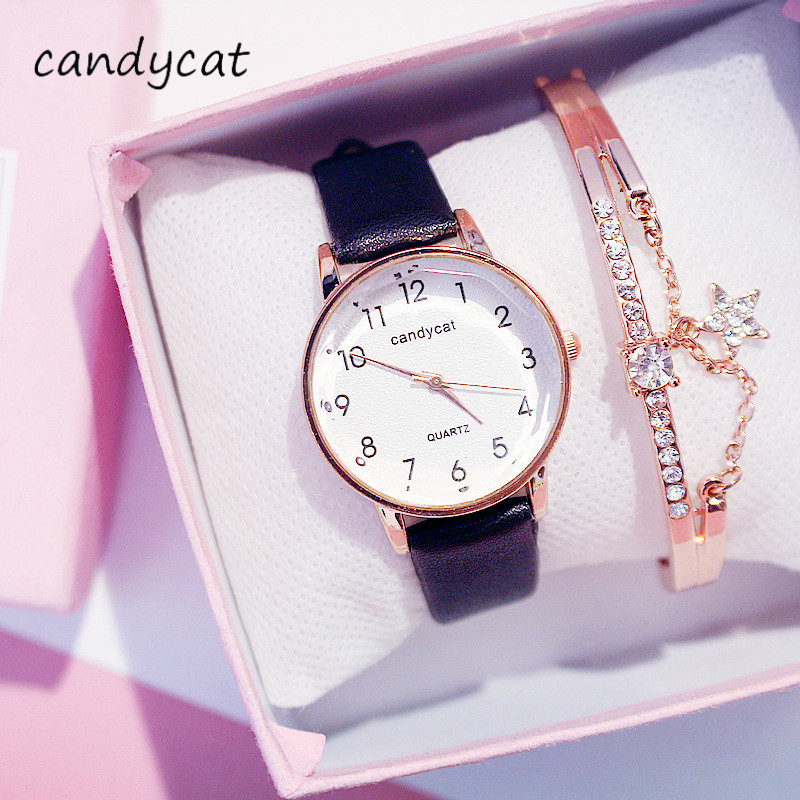 CandyCat College Entrance Examination Examination Exclusive Girl Ins Super Fire Harajuku Watch Middle School Students