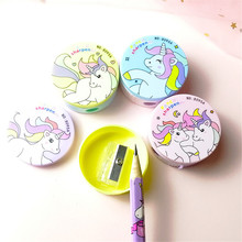 Cute Kawaii Cartoon Unicorn Plastic Pencil Sharpener For Kids Gifts School Supplies Manual Pencil Sharpener Stationery