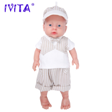 IVITA 2000g 16inch Lovely FULL BODY SILICONE Reborn Baby Boy Doll Toddler Newborn Lifelike With Colthes