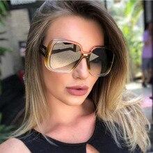 2020 Fashion Vintage Oversized Square Sunglasses Women Large