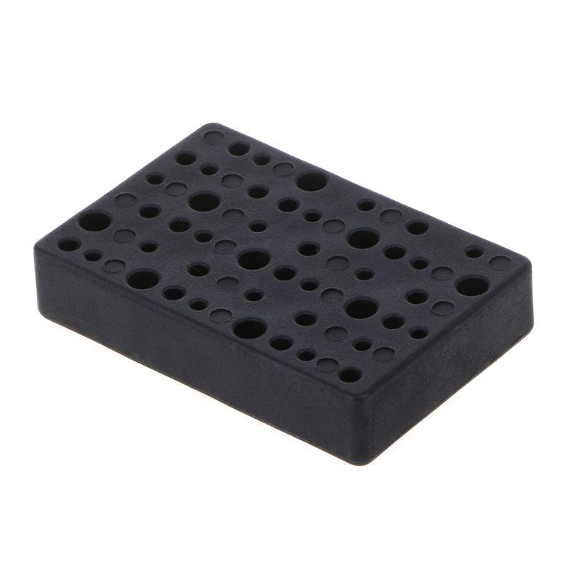 45 Holes Electric Drill Bit Storage Block Box Drill Head Holder Organizer Case 95AA