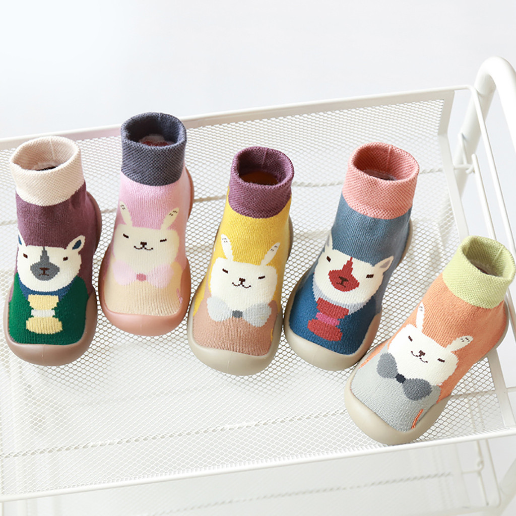 Toddler Kids Foot Socks Cartoon Cute Warm Baby Boy Girl Socks Children Floor Socks Anti-Slip Baby Step Socks Shoes носки детские