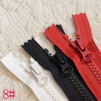10 unids/lote de plástico de gran tamaño de resina YKK cremallera negro rojo blanco Cierre de extremo sujetadores de bolsillo de zapatos accesorios de costura al por mayor