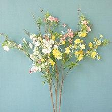 NEUE Schöne Plum blossom mit blatt Künstliche Blumen für Home tisch dekoration indie room decor günstige flores