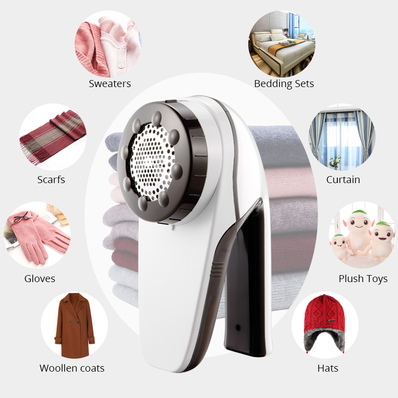 Professional Rechargeable Clothes Lint Remover For Home Travelling Six-vane Blade Efficient Fabric Defuzzer Large Fuzz Shaver