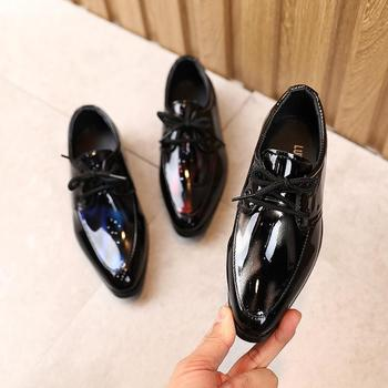 Kids Shoes For Boys Girls Leather Fellas Formal Shoe Dress Faux School Lace Up Prom - discount item  30% OFF Children's Shoes