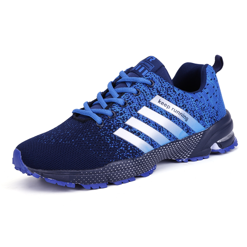 Couples Mens Air Cushion Lace Up Running Shoes Sports Trainers Athletic Sneakers