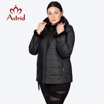 Hotsale jaqueta de inverno feminino casaco curto com capuz mais tamanho quente punhos peludos jaqueta feminina mane roupas ucrânia jaquetas am-2059