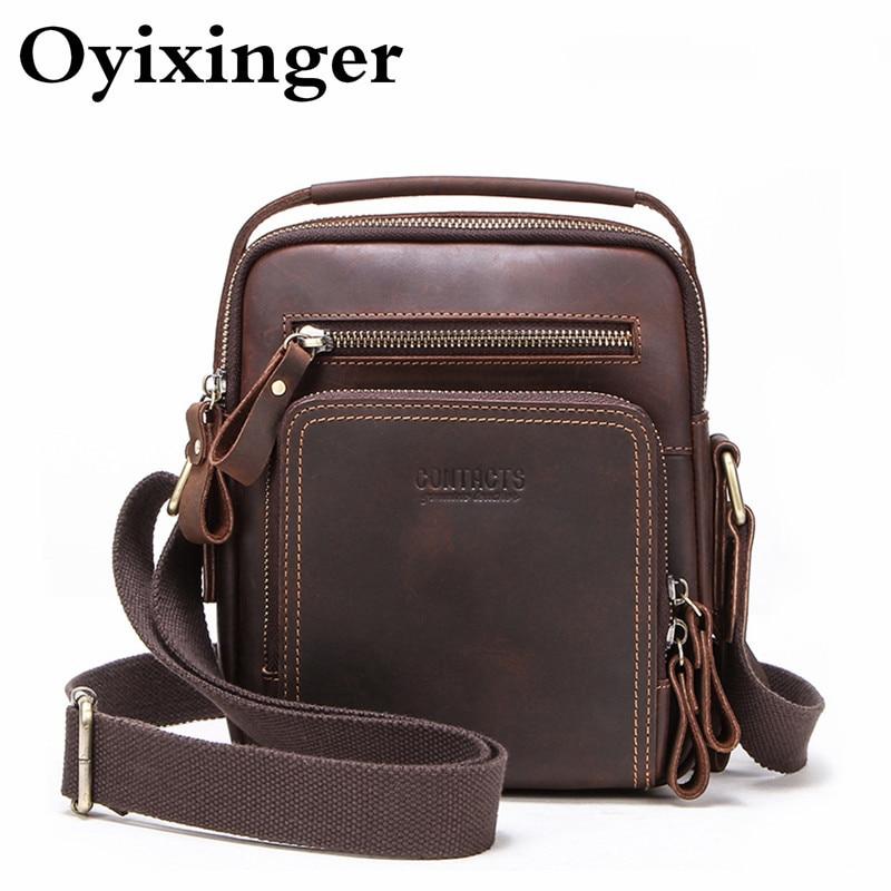 New Small Capacity Briefcase Men Genuine Leather Men's Natural Cowhide Messenger Bag Man Shoulder Bag For Ipad Mini 7.9 Inch Sac