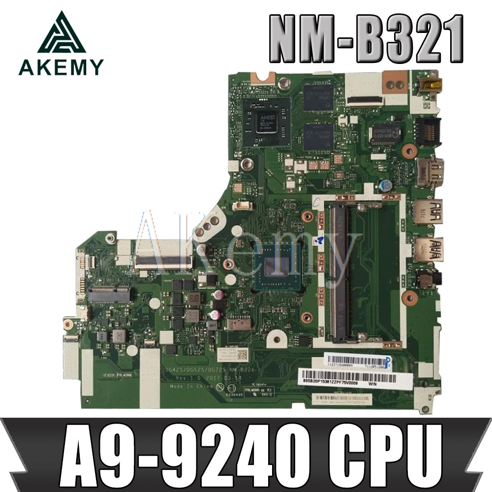 Akemy NM-B321 motherboard for Lenovo 320-15ACL 320-15AST motherboard DG425 DG525 DG725 NM-B321 A9-AM9420 CPU Test OK original
