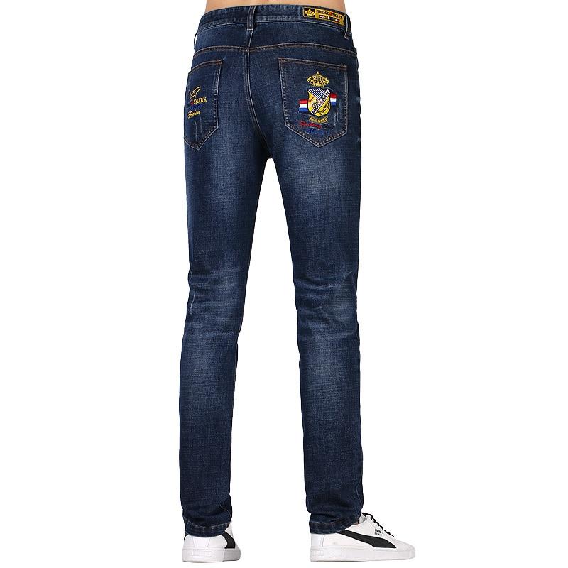 $33.15 Bruce& Shark Straight Men Jeans Men Casual  Design Jeans Youth Design Trend Strech Loose Jeans Men Pants Male Trousers Sofen