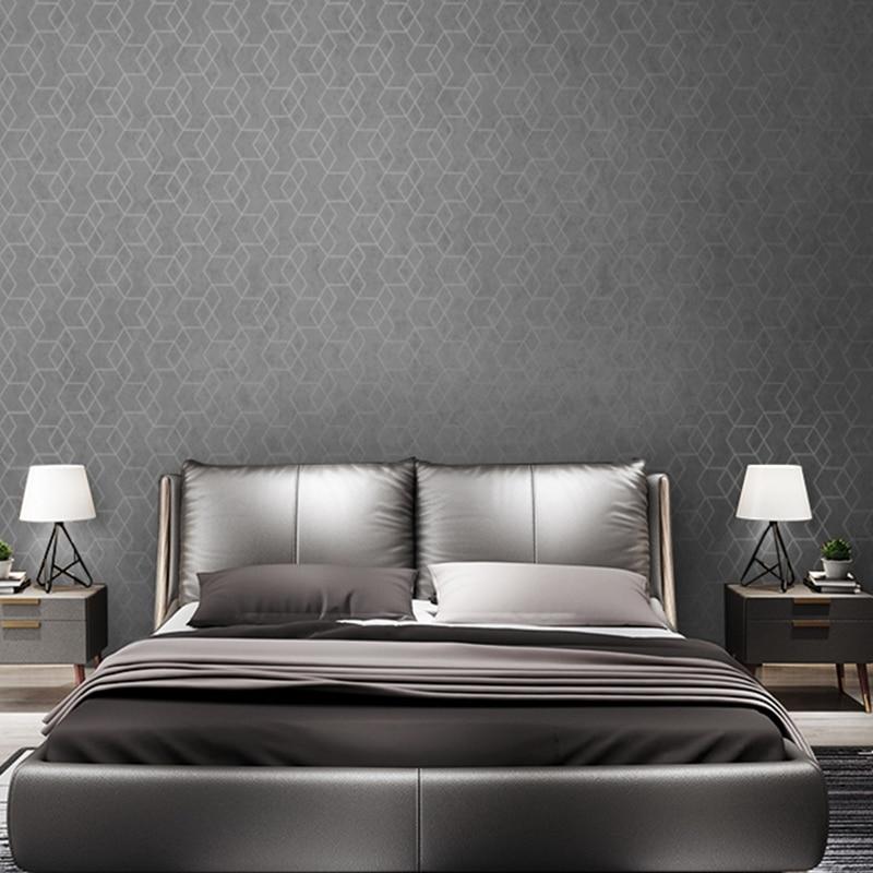 Welp Donkergrijs Luxe Geometrische Behang Roll Zwart Grijs Behang GL-05