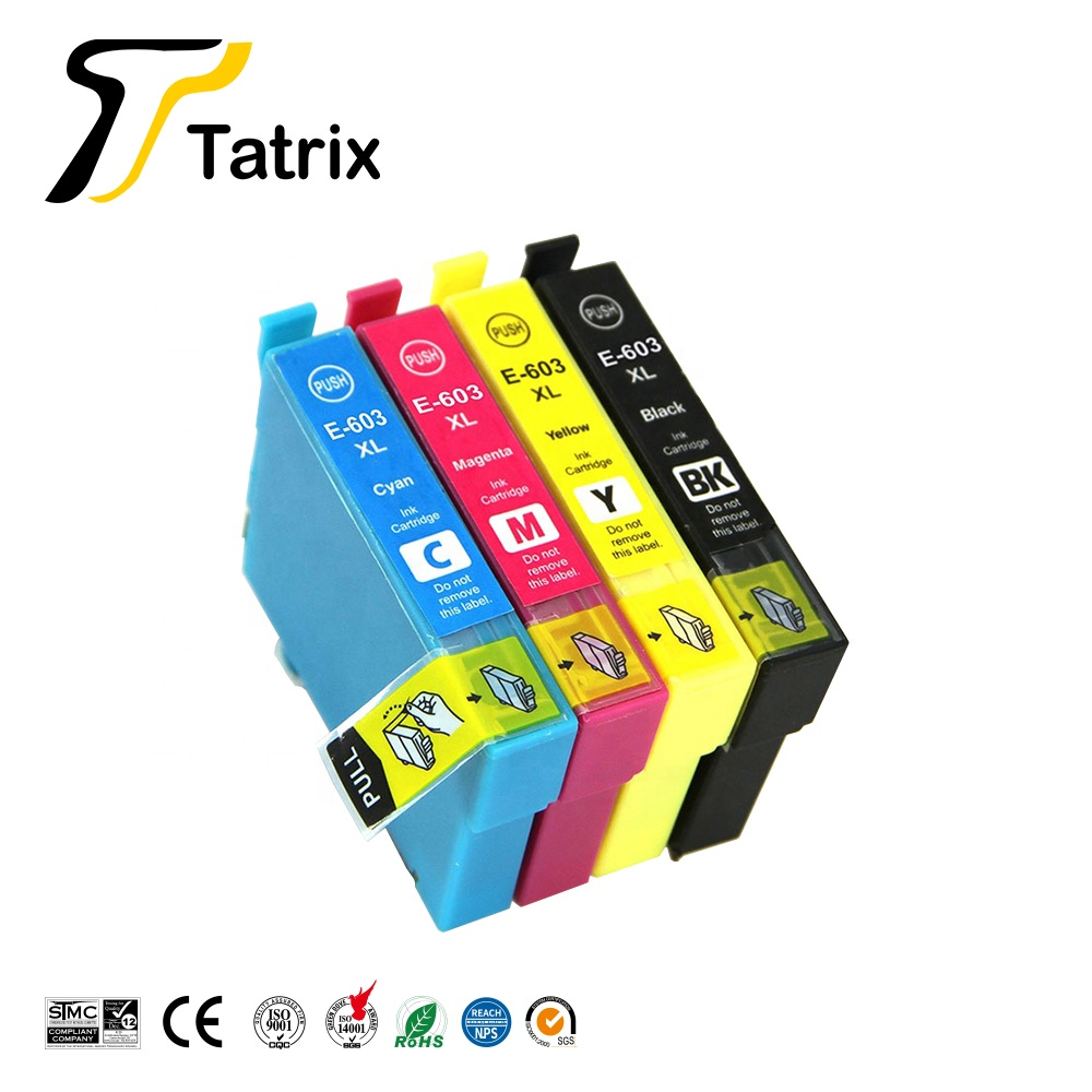Tatrix 603XL T603 T603XL E-603XL Compatible  Ink Cartridge For Epson WorkForce WF-2810DWF WF-2830DWF WF-2835DWF WF-2850DWF