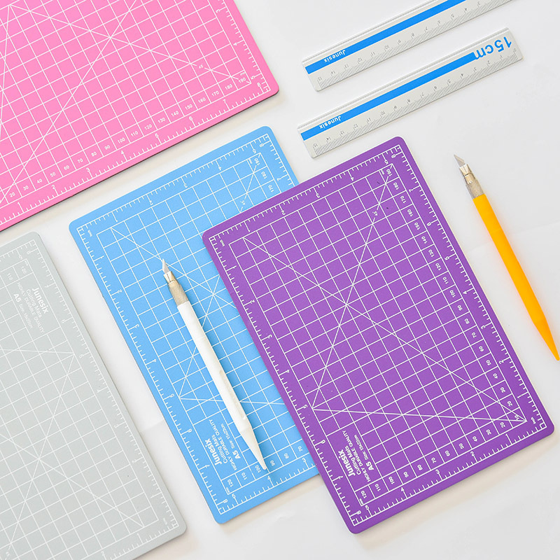 Junesix Basic A5 Plastic Mat Board Ruler For Cutting Planner Supplies Drawing Panting Sketching Tool Patchwork Ruler Quilting