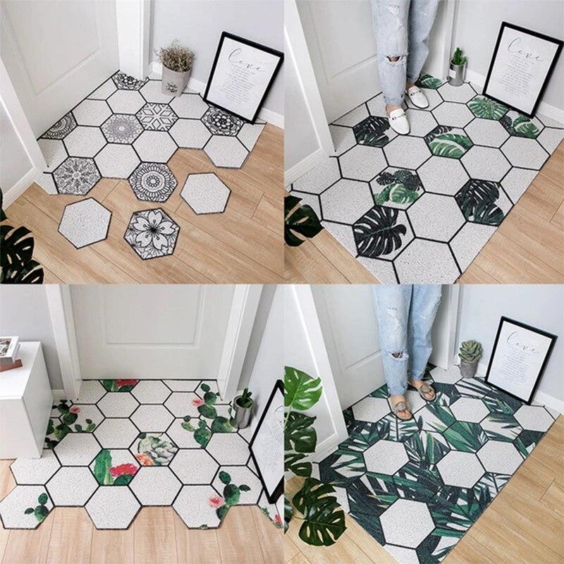 pvc absorbent outdoor welcome mat non slip net backing heavy duty waterproof indoor outdoor garage patio high traffic area rugs
